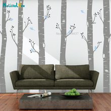 6 Large Birch Trees Forest Decal Popular Nursery Living Room Decor 3 colors Branches Sticker Removable Vinyl Wall Stickers BB070