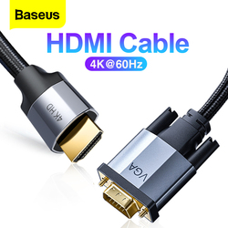 Baseus HDMI Cable 4K 60Hz Male to Male HDMI VGA DP Mini DP Cable For Projector PS4 PC TV Two-Way Video Cable Splitter Converter