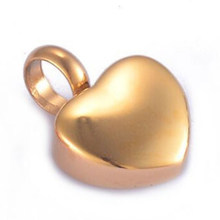 20pcs/Lot Stainless Steel Blank Slider Heart Cremation Ashes Urn Charm Pendant for Jewelry Makings Keepsake Accessories