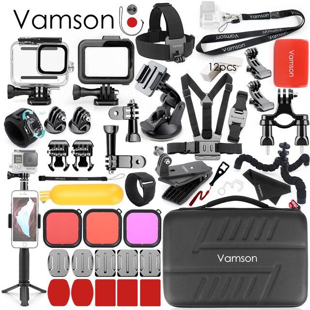 Vamsonゴープロアクセサリーキット防水移動プロヒーロー 8 ブラックカメラの三脚マウント移動プロ 8 黒VS20