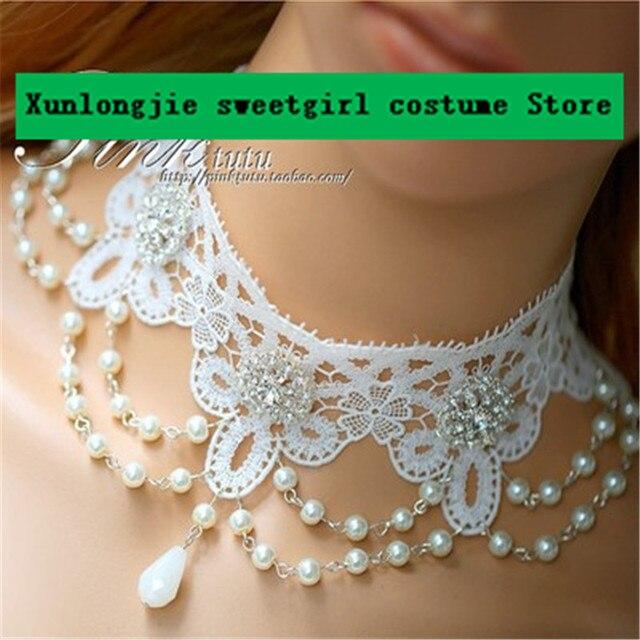 diy оригинальное женское кружевное ожерелье изысканное свадебные фотография