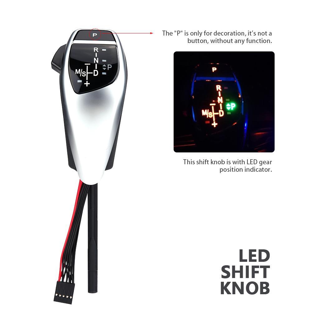 Für BMW Auto änderung LHD Automatische LED Schaltknauf Shifter Hebel für BMW E46 E60 E61 Schaltknauf kopf