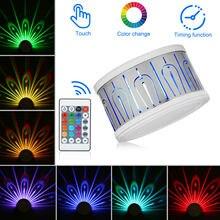 Новый цветной Павлин Лампа для проектора настенная лампа rgb