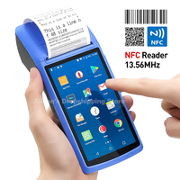 POS SystemTerminal Android PDA phone with Wifi 3G Thermal Bluetooth Printer 58mm 1D 2D QR Camera Barcode Reader Free App Loyvers