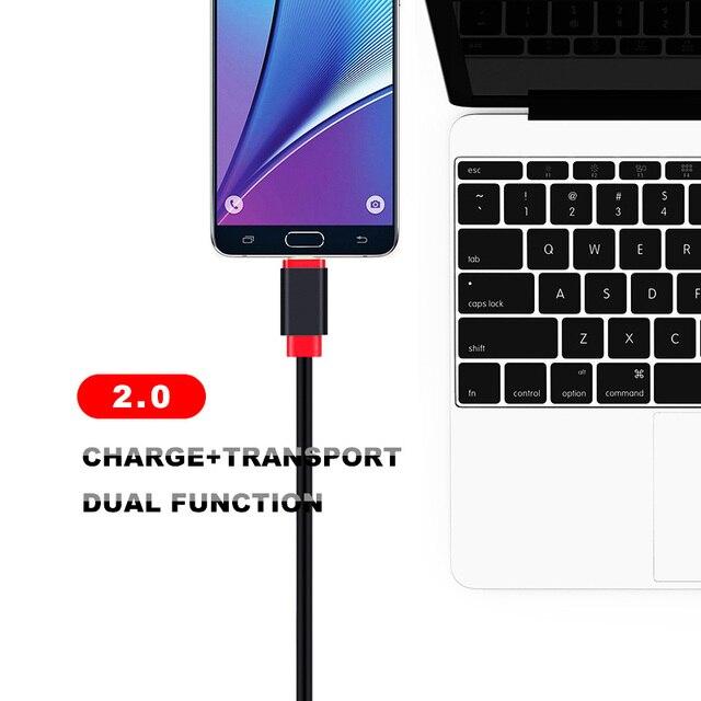 Liquidation vente Micro USB câble 10 pcs/lot 0.3m 1m 1.5m 2m 3m charge rapide plaqué or câble pour android Micro usb câble