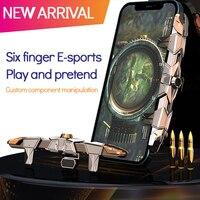 G15 Phone Mobile Gaming Trigger pulsante di fuoco maniglia sparatutto gioco joystick Gamepad per PUBG Fire Shooting scopo chiave Controller L1R1