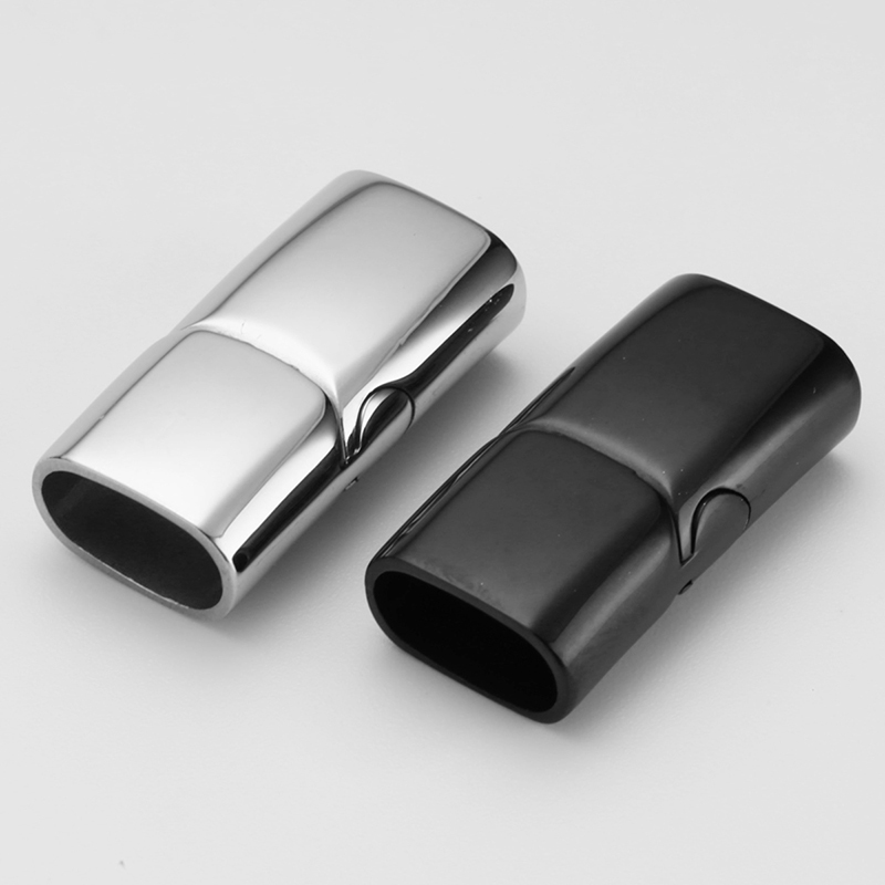 Stainless Steel Magnet Clasps Leather Bracelet Magnetic Clasp Metal Buckle Hook DIY Jewelry Making Findings