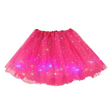 Star Sequin Mesh Tulle LED Small Bulb Mini Skirt SF