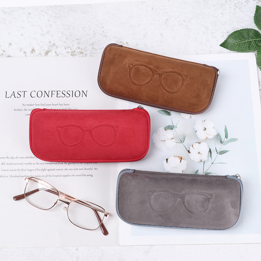 1Pc Flannelette Eyewear Protector Simple Portable Reading Eyewear Case Women Men Kids Sunglasses Protector Glasses Box Case 2020