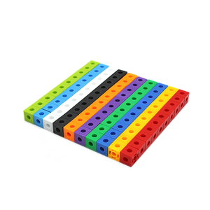 Toy Snap-Blocks Linking Math-Aids Counting-Cubes Teaching Early-Education 100pcs Manipulative