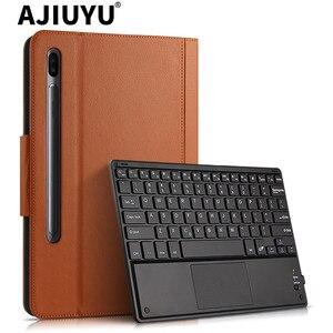 Чехол для Samsung Galaxy Tab S6 10,5 SM-T860 SM-T865 Bluetooth Клавиатура Защитный чехол из искусственной кожи Tab S6 10,5