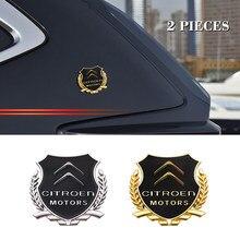 2 pçs carro 3d liga de metal decalques emblema adesivos janela lateral emblema para citroen c4 c1 c5 c6 c5 c8 ds C-ELYSEE vts c4l xantia ds3