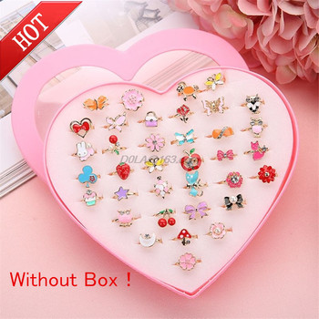 5pcs Fancy Adjustable Cartoon Rings Party Favors Kids Girls Action Figures Toy Without Box