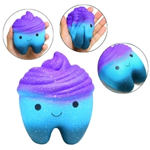 Squeeze Teeth Cake Slow Rising Relax Stress Relief Healing Kid Toy Gift Scented R9UE