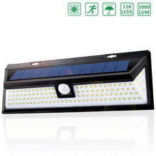 118 светодиодный светильник на солнечной батарее наружный датчик