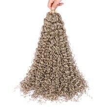 Sallyhair Zizi Braids Crochet Box Braids Colored Synthetic Hair Extensions Brown Blonde Gray Yellow Crochet Hair 48Strands/Pack