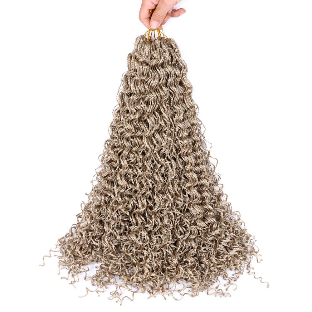 Sallyhair Zizi Vlechten Gehaakte Doos Vlechten Gekleurde Synthetische Hair Extensions Bruin Blond Haak Hair 28Strands/Pack