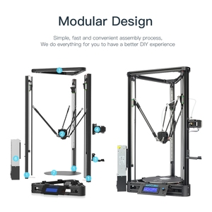 Image 4 - ANYCUBIC Kossel 3D מדפסת ליניארי בתוספת חצי התאסף עם אוטומטי פילוס גדול 3D הדפסת גודל Impressora 3D DIY קיט