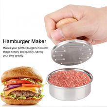 1 шт. нержавеющая сталь Гамбургер производитель мяса пресс-форма ручное давление мясо пирог устройство для приготовления бургеров кухонные аксессуары
