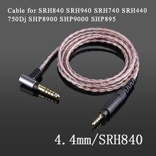 Shure – câble de balance 4.4mm 2.5mm, en cuivre monocristallin, pour casque découte, SRH840, SRH940, SRH440, SHP8900, SHP9000, SHP895, 750