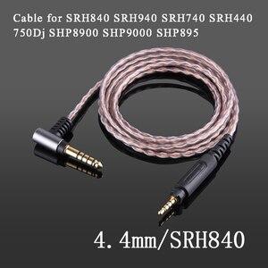 Image 1 - Shure – câble de balance 4.4mm 2.5mm, en cuivre monocristallin, pour casque découte, SRH840, SRH940, SRH440, SHP8900, SHP9000, SHP895, 750
