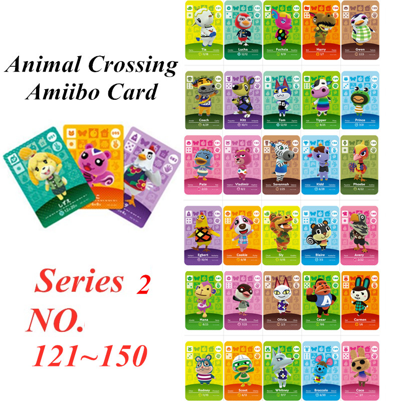 Animal Crossing Card Amiibo NFC Card For Nintendo Switch NS Games Series 2  (121 To 150)