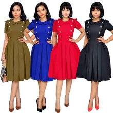2019 Summer Women Fashion Lotus Leaf Collar Pleated OL Wind Short Sleeved Dress Ruffle Mini Party Vestido