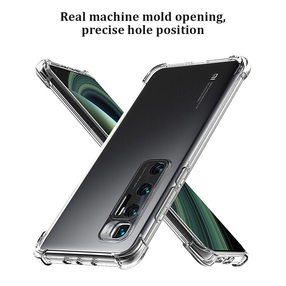 Phone Case For Xiaomi Redmi Note 5 7 Pro 6A 5 Plus Transparent Crystal Airbag Cover for Xiaomi mi 10 Ultra Mi Note 10 9 8se lite(China)