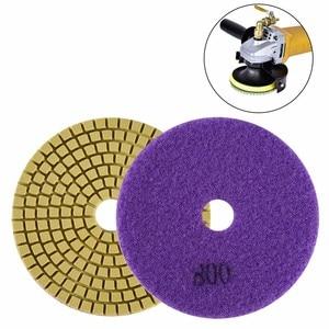 Image 5 - Tamponi Per Lucidatura del diamante Kit 4 pollici 100 millimetri Wet Dry Granito Pietra Marmo Cemento Lucidatura Rettifica Dischi Set