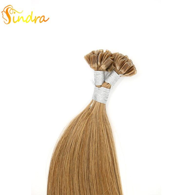 Sindra 14''-24'' 100% Human Hair Pre Bonded Capsule Fusion Nail U Tip Double Drawn Straight Remy Human Hair