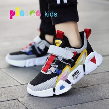 2020 nowych dzieci sportowe buty dla chłopców trampki dziewczyny moda wiosna na co dzień dzieci buty chłopiec bieganie buty dziecięce Chaussure Enfant tanie i dobre opinie pinsen Pasuje prawda na wymiar weź swój normalny rozmiar 14 T 12 t 10 t 13 t Mesh (air mesh) Pasek klamra Drukuj spring autunmn