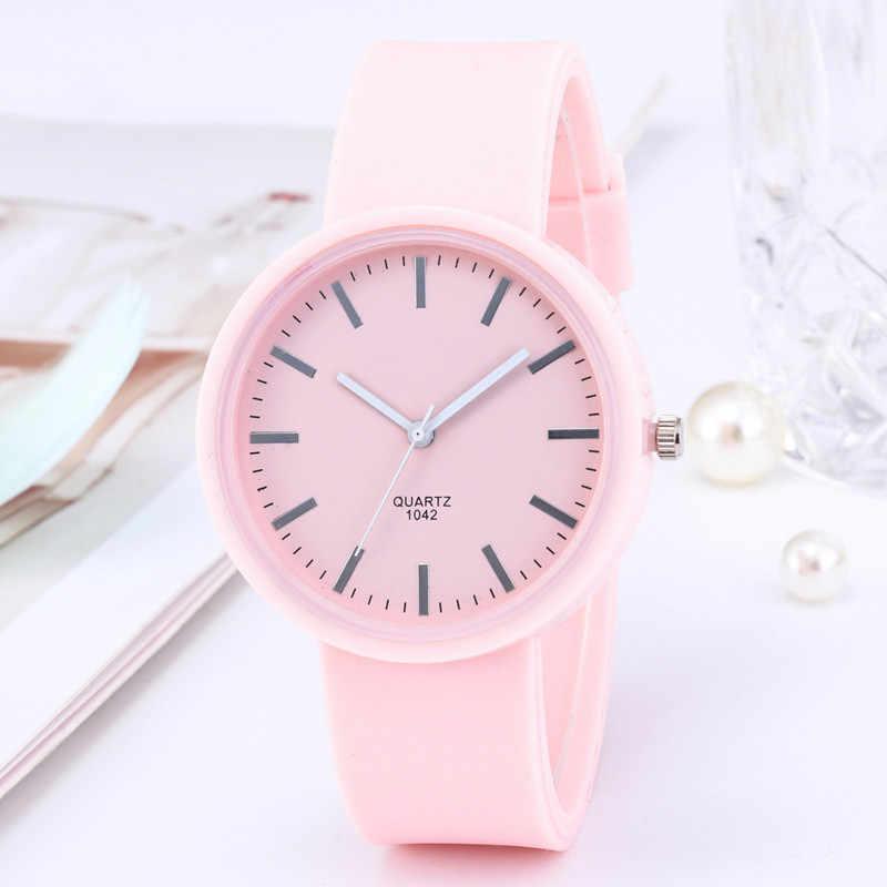 2019 موضة جديدة للمرأة الساعات Ins الاتجاه لون الحلوى ساعة معصم الكورية سيليكون جيلي ساعة Reloj Mujer ساعة هدايا للنساء