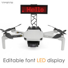 LED Display Screen for DJI Mavic Mini Drone DIY Display Board Bracket Drone Accessories Rechargeable and free text editing