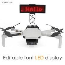 Écran daffichage de LED pour DJI Mavic Mini Drone bricolage support de panneau daffichage accessoires de Drone édition de texte Rechargeable et gratuite