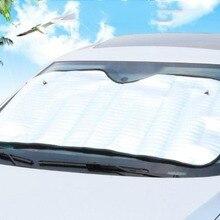 Односторонний солнцезащитный козырек для автомобиля на переднее окно, солнцезащитный козырек из алюминиевой фольги, защита от солнца, защита от солнца на лобовое стекло
