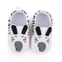 Baby Boy Girl Shoes Spring Cartoon Pattern Elastic Band Lazy Shoes Toddler Infant Shoes