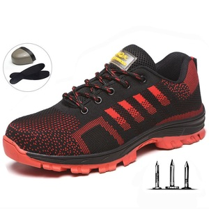 Image 2 - Men Safety  Work BootsShoes  Construction Outdoor Steel Shoes Summer Breathable Anti Piercing Mite High Quality