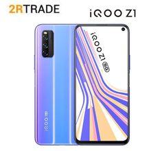 Vivo iqoo z1 5g telefone inteligente 6.57 polegadas 144hz taxa de atualização tela cheia 44w carregamento 4500mah bateria lado impressão digital celular