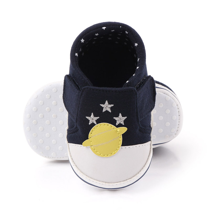 Soft Newborn Baby Shoes Star Pattern Toddler Baby Shoe Non-Slip First Walkers Buckle Baby Infant Toddler Prewalker Sneaker Shoe