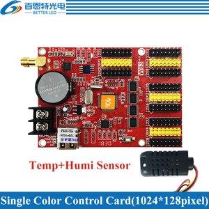 Image 4 - HD W63 usb + wifi 8 * hub12 4 * hub08 단색 (1024*128 픽셀) 및 듀얼 컬러 (512*128 픽셀) led 디스플레이 제어 카드