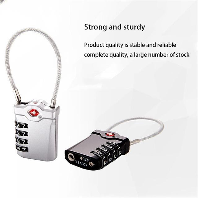 TTLIFE Master Lock TSA Serrature Smart Serratura a Combinazione per Dei Bagagli di Corsa Valigia Codice Anti-furto Lucchetto Password di Blocco Doganale