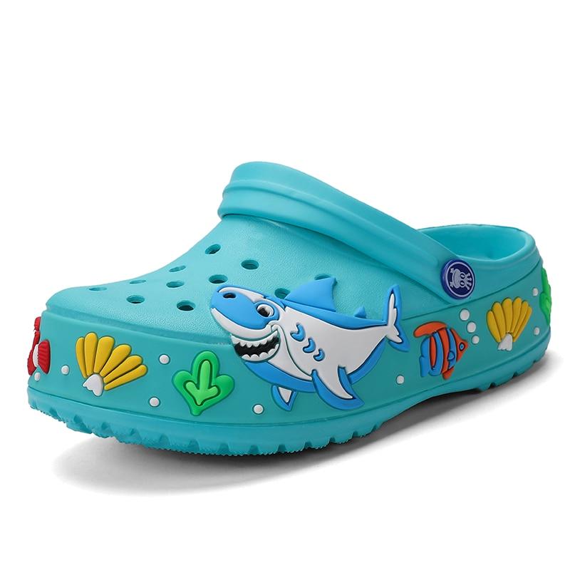 Kids Sandals Slippers Children Garden Shoes Croc Cartoon Slides Sandals Clogs Boys Lightweight Summer Toddler Pool Beach Slipper