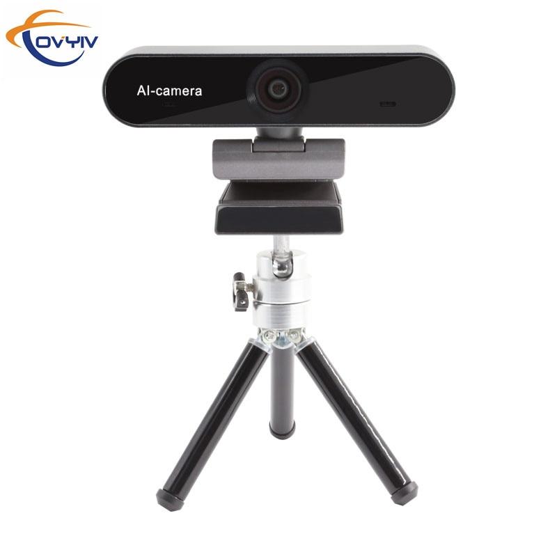 COVYIV 4K веб-камера, умная веб-камера с искусственным интеллектом, веб-камера для отслеживания людей, USB веб-камера для ноутбука, настольного ко...