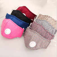 Cotton PM2.5 Anti Haze Mask Breath valve anti-dust mouth mask Activated carbon filter respirator Mouth-muffle black mask face