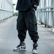 Pantaloni Cargo neri uomo Hip Hop 2021 pantaloni uomo autunno Harem Pant Streetwear Harajuku Jogger pantaloni sportivi pantaloni in cotone pantaloni maschili