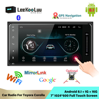LeeKooLuu 2 din android Universal Car Multimedia Player Car Radio Stereo for toyata VIOS CROWN CAMRY HIACE PREVIA COROLLA RAV4