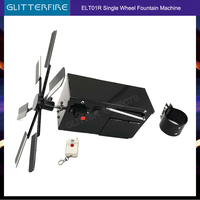 Remote control single face wheel rotate windmill battery type stage cold fountain system fireworks firing