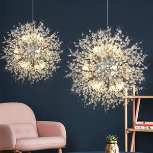 Image 3 - Modern Crystal Chandelier Lighting Cristal Chandeliers Lamp LED Pendant Hanging Light Lustres De Cristal Lamp Restaurant Light