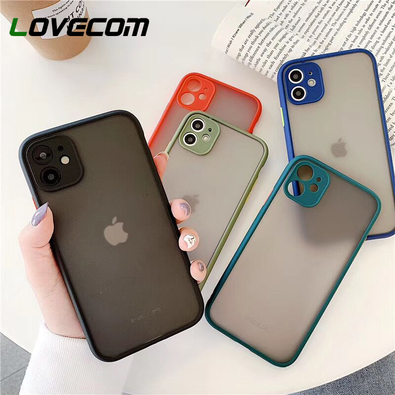 LOVECOM Candy Color Camera Protection Phone Case For IPhone 11 Pro Max XR XS Max 7 8 6 6S Plus X Soft TPU Matte Back Cover Gift