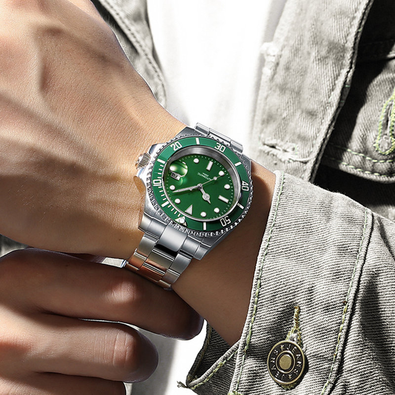 2020 relógio de mergulho 200m fantasma verde japão 2115 relógios de quartzo men c3 calendário super luminoso relógio de mergulho relógios masculinos da forma - 5